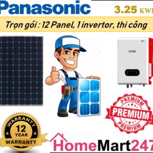 Solar 3.25 kwp Premium cao cấp