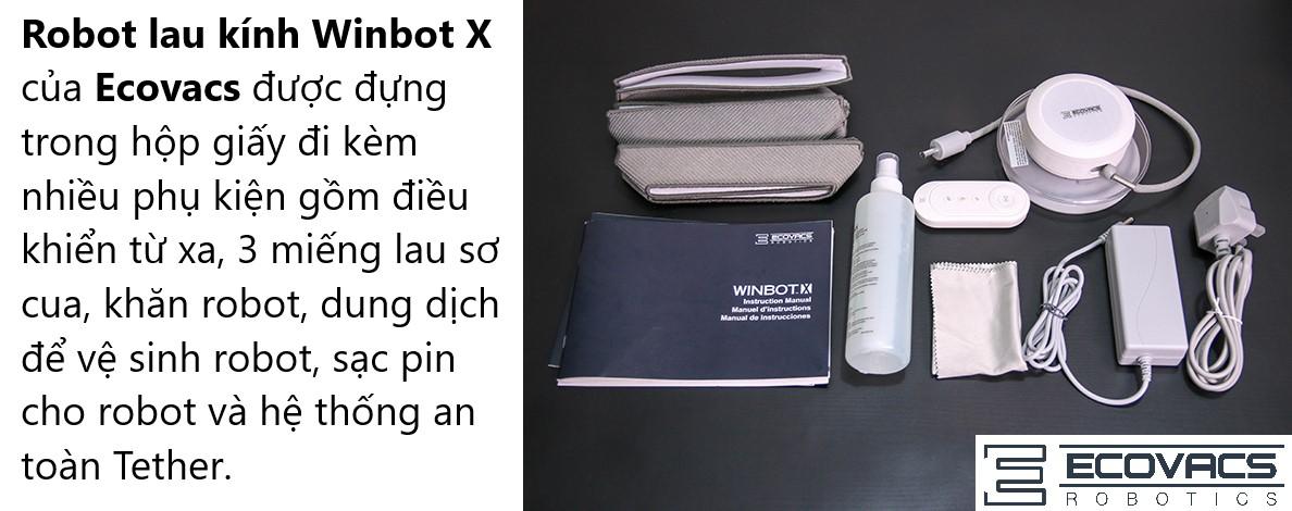 Robot lau kinh Ecovacs Winbot X