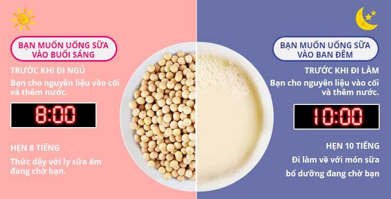 hẹn-giờ-thông-minh-với-máy-nấu-sữa-hạt